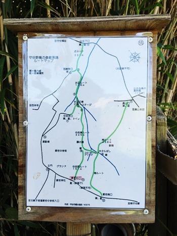 守谷:野鳥の森散策路マップ