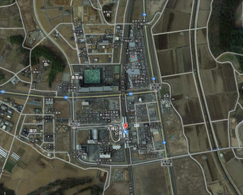 つくばエクスプレス万博記念公園駅前航空写真