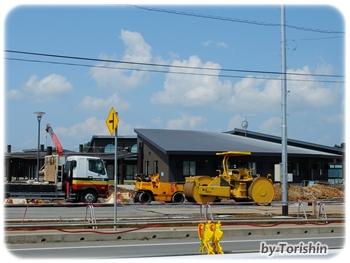 空の駅「そらら」工事風景